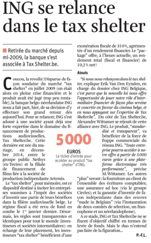 La Libre- coupure 6 oct. 2015